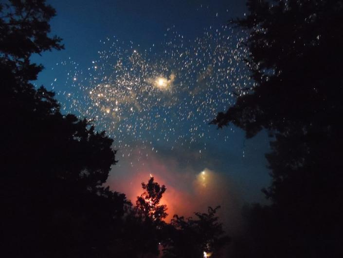 Wedding fireworks for a lifetime of adventure together!