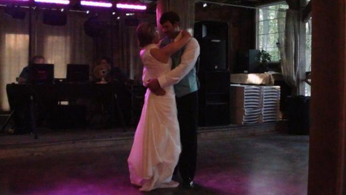 We provide music equipment and a dance floor for the perfect wedding dance!
